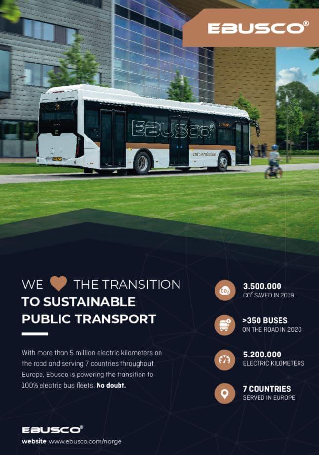 Electric bus advertisement