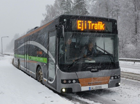 Electric Bus test in Sweden