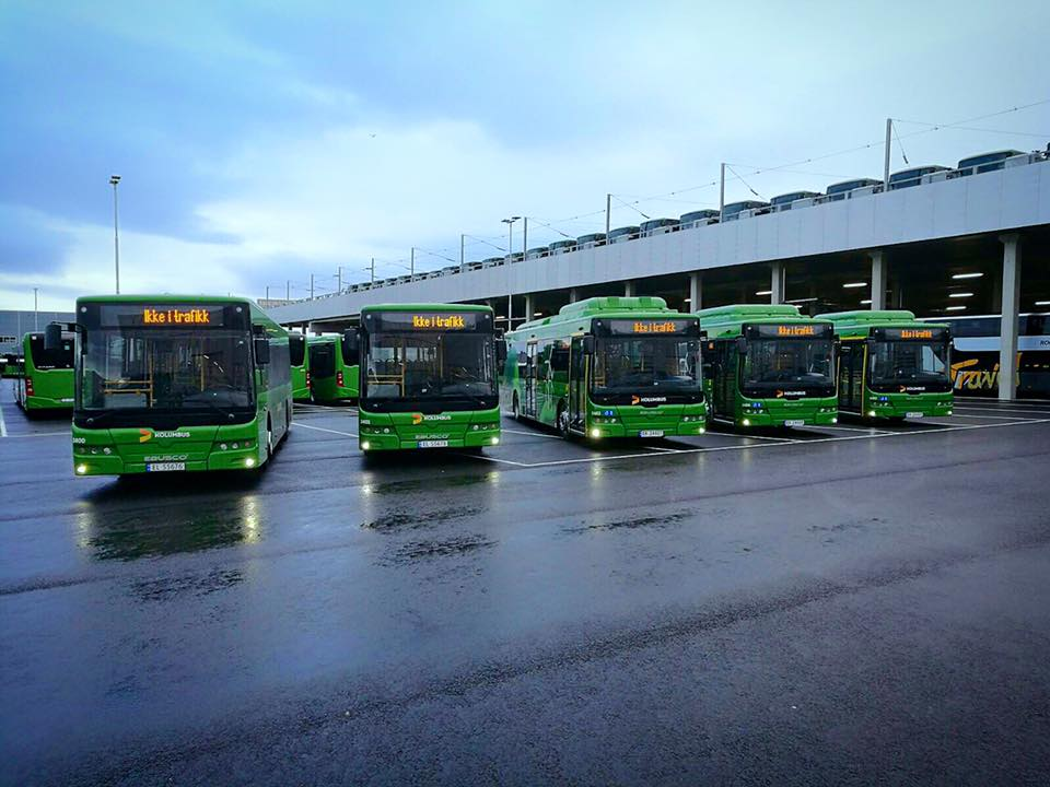 Electric busses in Norway