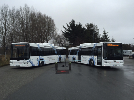First 2 100% electric buses in Norway