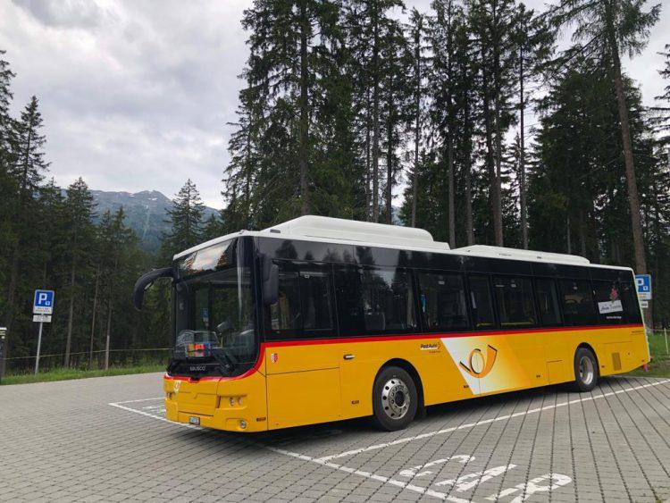 SaasFee Switserland Ebusco bus