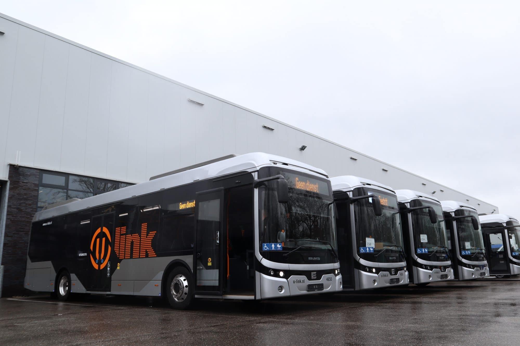 Ebusco Utrecht buses on a row