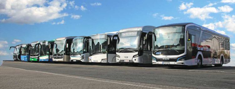 Ebuses on a row