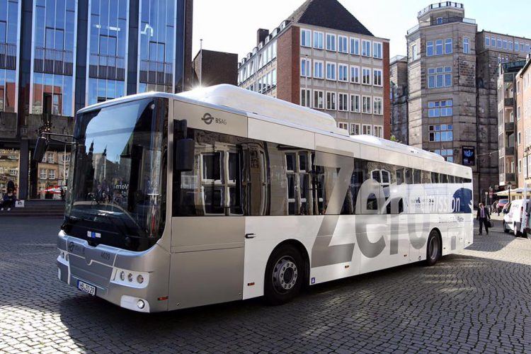 New 100% electric bus in Bremen Germany