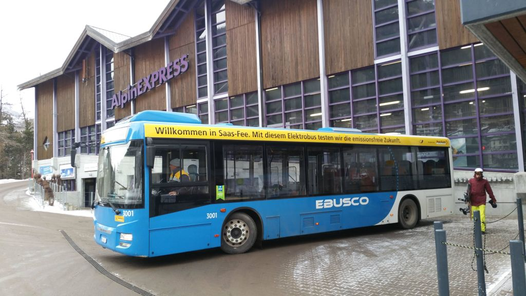SaasFee Switserland Ebusco bus