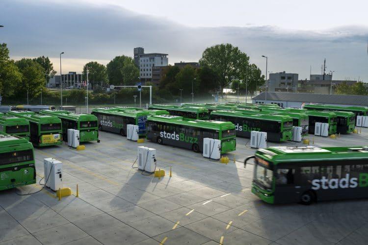 Charging depot bus